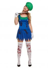 Adult Workwoman Super Zombie Green