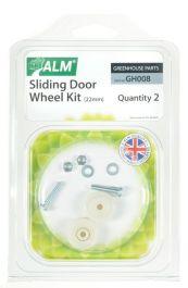 ALM Greenhouse Sliding Door Wheel Kit - 22mm