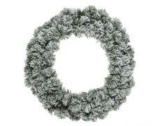 Ambassador Green/White Snowy Imperial Wreath - 50cm