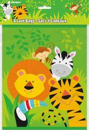 Animal Jungle Loot Bag (Pack of 8)