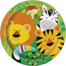 Animal Jungle Plates (9 Inches) Pack of 8