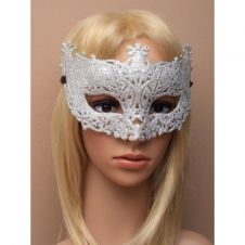 Antique style Silver Glitter Filigree Mask