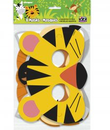 Assorted Animal Jungle Party Mask (Pack of 8)