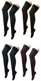 Assorted Lurex OTK Socks (12 Pairs)