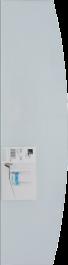 B!organised Bowed Clear Glass Shelf - 60x15