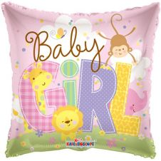 Baby Girl Animals Balloon (18 Inches)