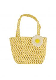 Bag Easter Yellow W/flower 15 X 22.5 Cm