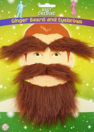 Beard and Mustache Eyebrows Ginger