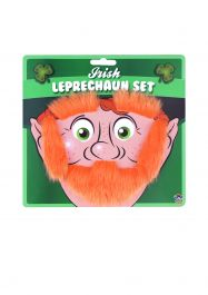 Beard Eyebrows & Sideburns Leprechaun Set