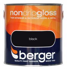 Berger Non Drip Gloss 2.5L - Black