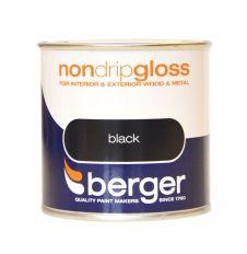 Berger Non Drip Gloss 250ml - Black