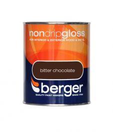 Berger Non Drip Gloss 750ml - Bitter Chocolate