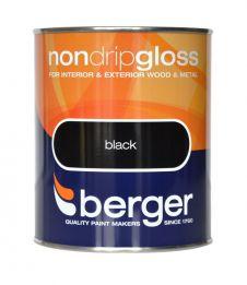 Berger Non Drip Gloss 750ml - Black