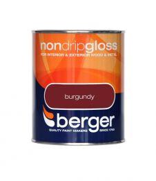 Berger Non Drip Gloss 750ml - Burgundy