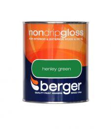Berger Non Drip Gloss 750ml - Henley Green