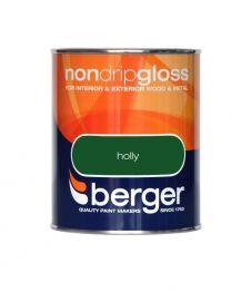 Berger Non Drip Gloss 750ml - Holly