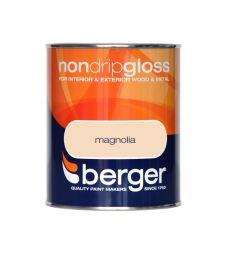 Berger Non Drip Gloss 750ml - Magnolia