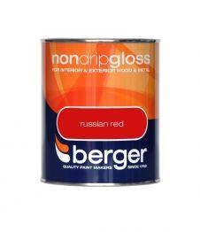 Berger Non Drip Gloss 750ml - Russian Red