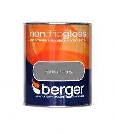 Berger Non Drip Gloss 750ml - Squirrel Grey