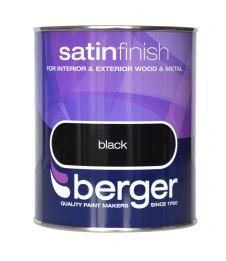 Berger Satin Sheen 750ml - Black