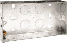 BG Metal Back Box 25mm - Double