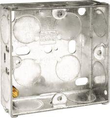 BG Metal Back Box 25mm - Single