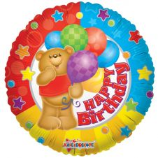 Birthday Bear Balloon (18 Inches)