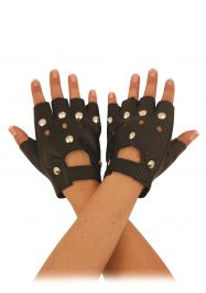 Black Biker Gloves