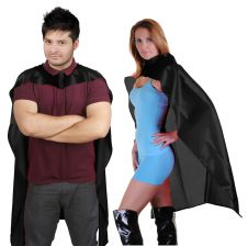 Wicked Fun Black Deluxe Satin Cape