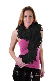 Black Feather Boa High Quality