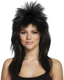 Black Glam Rock Wig 140g