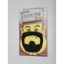Black Goatee Mustache Xubo