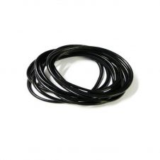 Black Gummy Bangles (pack of 12)