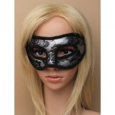 Black Lace Silver Masquerade Mask