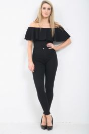 BLACK LADIES HIGH WAISTED JEANS