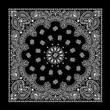 Black Paisley Bandana (1 Dozen)