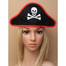 Black Pirate Hat on a Stretch Headband