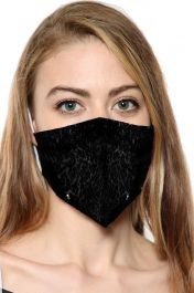 Black Sequin Face Mask With Filter Pocket