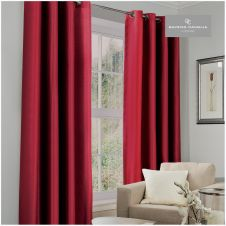 BLACKOUT CURTAIN 66X54 DEEP RED