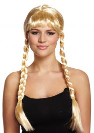 Blonde Long W/Plaits Wig 200g