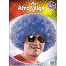 Blue Colour Afro Wig