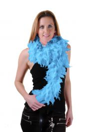 Sky Blue Feather Boa High Quality