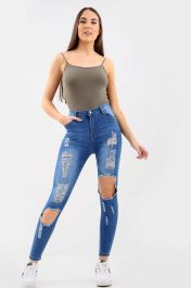 BLUE LADIES  Ladies High waisted jeans