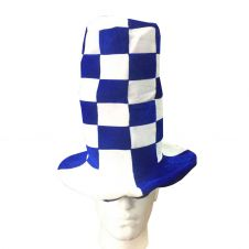 Blue White Wacky Hat