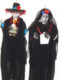 B/O Hanging Day of Dead Bride/Groom 90cm 2 Assorted