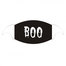 BOO Printed Cotton Face Mask With Filter Pocket