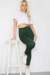 Bow Push Up Bum Workout Leggings Green