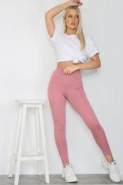 Bow Push Up Bum Workout Leggings Pink