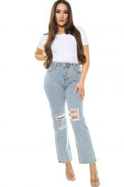 Boyfriend Jeans Grey