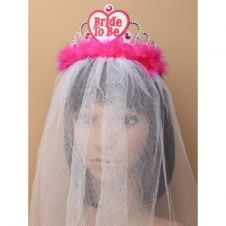 Bride To Be Tiara With White Veil